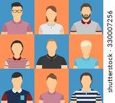 nine humans in polo shirt... | Shutterstock .eps vector #330007256
