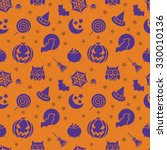 cute halloween symbols as angry ... | Shutterstock .eps vector #330010136