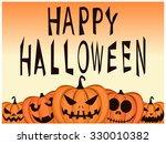 happy halloween greeting card.... | Shutterstock .eps vector #330010382