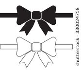 flat designed bow tie icon....   Shutterstock . vector #330024758