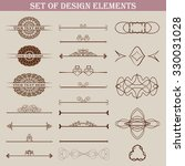 set of design elements. vector... | Shutterstock .eps vector #330031028