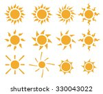 set of sun icons in many style  ...