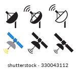 set of satellite icons  vector...
