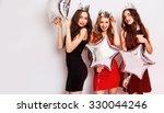 three beautiful elegant women... | Shutterstock . vector #330044246