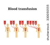 blood transfusion. blood groups.... | Shutterstock .eps vector #330050555