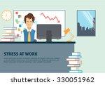 job stress concept   stressed...   Shutterstock .eps vector #330051962