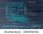 enable and disable browser's... | Shutterstock . vector #330056036