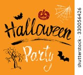 halloween party hand drawn... | Shutterstock .eps vector #330056426