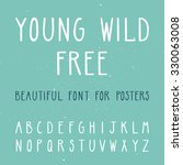 vector set with thin letters.... | Shutterstock .eps vector #330063008