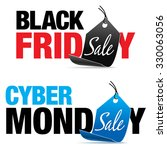 black friday and cyber monday... | Shutterstock .eps vector #330063056
