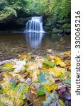Small photo of Cauldron Falls waterfall, West Burton in the Yorkshire Dales (UK)