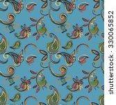 paisley seamless pattern for... | Shutterstock .eps vector #330065852
