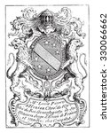 bookplate  vintage engraved... | Shutterstock .eps vector #330066662