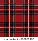 knitted plaid tartan pattern   Shutterstock .eps vector #330082436