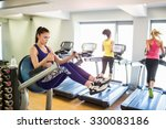 fit people working out using... | Shutterstock . vector #330083186