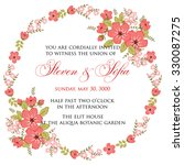 invitation or wedding card with ... | Shutterstock .eps vector #330087275