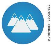 flat white mountain icon on... | Shutterstock .eps vector #330087812