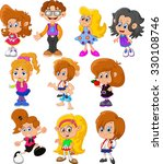 boy and girls cartoon | Shutterstock . vector #330108746