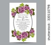 romantic invitation. wedding ... | Shutterstock .eps vector #330110798