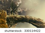 3d landscape illustration where ... | Shutterstock . vector #330114422