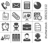 office icons | Shutterstock .eps vector #330121112