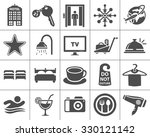 hotel icons | Shutterstock .eps vector #330121142