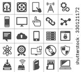 technology icons set computer ... | Shutterstock .eps vector #330121172