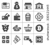 banking icons set | Shutterstock .eps vector #330121445