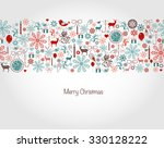 seamless christmas background... | Shutterstock .eps vector #330128222