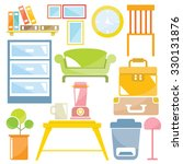 home decor  furniture set for... | Shutterstock .eps vector #330131876