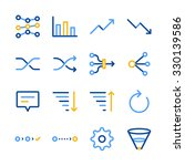 analytics icons set. included... | Shutterstock .eps vector #330139586