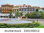 colorful spanish colonial... | Shutterstock . vector #330140012