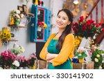 confident vietnamese flower... | Shutterstock . vector #330141902