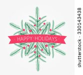 Vector Happy Holidays Card With ...