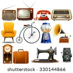 many type of vintage objects... | Shutterstock .eps vector #330144866