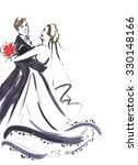wedding dancing couple .... | Shutterstock . vector #330148166