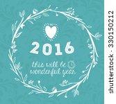 happy new year 2016 design ... | Shutterstock .eps vector #330150212