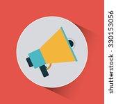 megaphone icon design  vector... | Shutterstock .eps vector #330153056