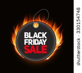 black friday sale label vector... | Shutterstock .eps vector #330154748