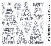 vector set of holidays... | Shutterstock .eps vector #330165776