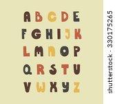 vintage hand drawn alphabet... | Shutterstock .eps vector #330175265