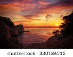 lefkada island lighthouse greece | Shutterstock . vector #330186512