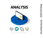analysis icon  vector symbol in ...