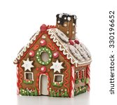 home made gingerbread house...   Shutterstock . vector #330196652