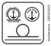 sailing badges with anchor and...   Shutterstock .eps vector #330201815
