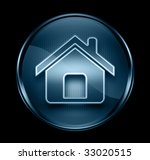 home icon dark blue  isolated... | Shutterstock . vector #33020515