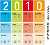 colorful calendar for year 2010.... | Shutterstock .eps vector #33020527