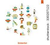 oktoberfest beer festival. long ... | Shutterstock . vector #330207122