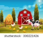 farm animals living in the farm ...
