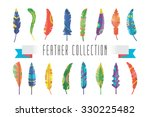 feathers vector silhouette set. ...